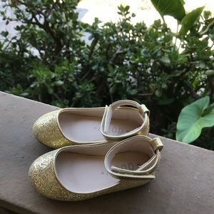 Other - Gold glitter fabric with ankle straps